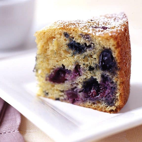 slow cooker blueberry coffee cake recipe