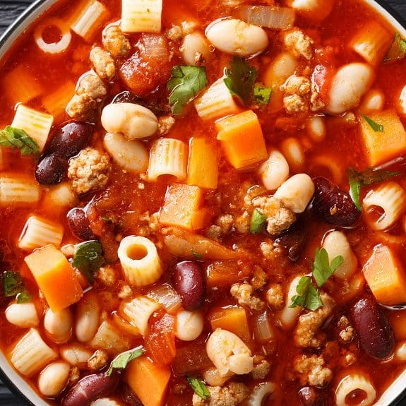 slow cooker easy pasta fagioli recipe