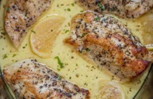 slow cooker creamy lemon chicken breasts recipe