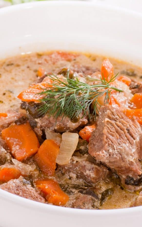 Crockpot Creamy Vegetable Beef Pot Roast Recipe #slowcooker #crockpot #dinner #vegetables #beef #homemade #delicious