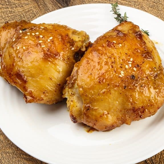 slow baked chicken thighs recipe