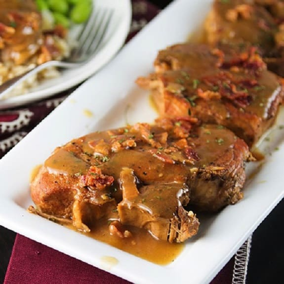 slow cooker smothered pork chops recipe