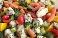 oven baked chicken vegetable casserole recipe