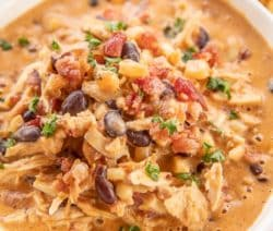 slow cooker creamy chicken chili recipe
