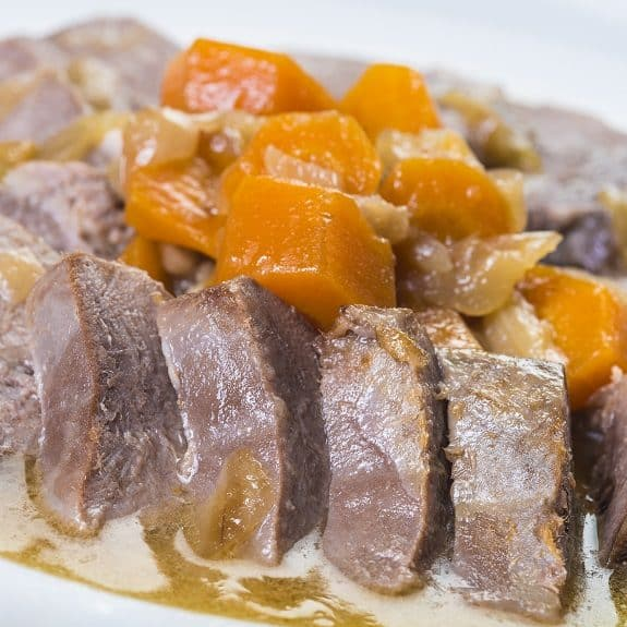 stewed beef tongue recipe (slow cooker)