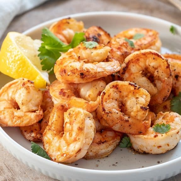 fried lemon garlic shrimp recipe