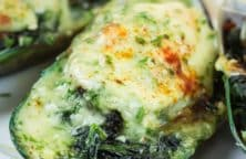 baked mussels with spinach and cheese recipe