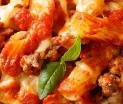 pressure cooker ground turkey and ziti casserole recipe