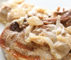 pressure cooker pork chops with mushroom gravy recipe