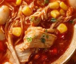 Crock pot Brunswick stew recipe. Cubed chicken breasts with vegetables cooked in a crock pot. Very easy and delicious! #slowcooker #crockpot #stew #chicken #dinner #yummy #homemade