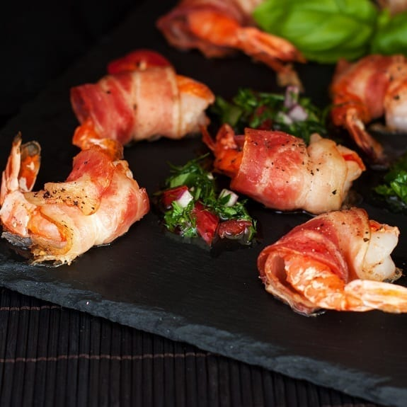 baked bacon-wrapped shrimp appetizer recipe