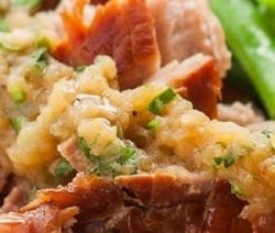 slow cooker applesauce pork roast recipe