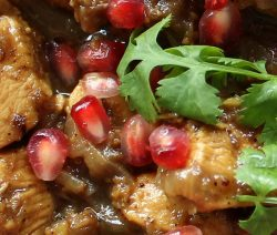 Pressure cooker pomegranate chicken. This delicious chicken recipe belongs to traditional Persian cuisine. Chicken with vegetables, walnuts, and pomegranates cooked in a pressure cooker. #pressurecooker #instantpot #chicken #dinner #homemade #magicskilletrecipes