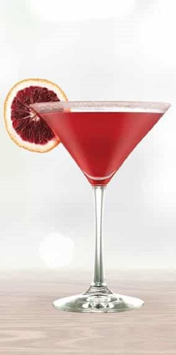 Cranberry kiss cocktail recipe. Vodka-based alcoholic mixed drink. Very easy to make. An excellent, rich of vitamin C, refreshing drink for a hot summer evening. #beverages #cocktail #drinks #refreshing #mix #party