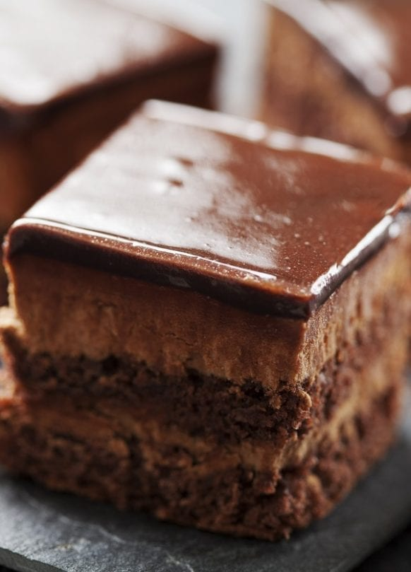 Easy chocolate mousse cake recipe. Cakes often mean a party, but you can serve them at any time of day. Whether it's a tea-time treat or lunch-time dessert, a cake is always much appreciated. #desserts #chocolate #cake #breakfast #easy