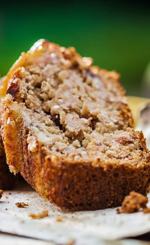 Slow cooker brown sugar banana bread. Banana bread cooked in a slow cooker. Very easy dessert. Brown sugar gives this delicious bread a caramel flavor. #slowcooker #crockpot #dessets #bread #homemade #easy