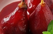 slow cooker marsala-poached pears recipe