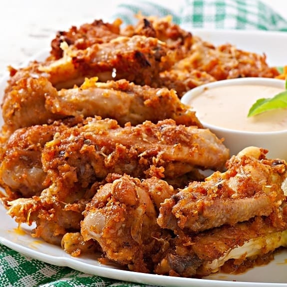 oven baked parmesan chicken wings recipe
