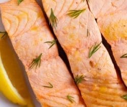 Pressure cooker lemon dill steamed trout. A whole trout with lemon, dry white, and dill cooked in a pressure cooker and served with spicy homemade lemon mayonnaise. #pressurecooker #instantpot #seafood #trout #dinner