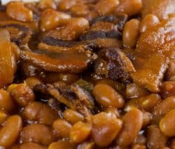 slow cooker saucy baked beans recipe