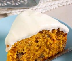 Instant pot classic carrot cake recipe. Popular carrot cake baked in an electric pressure cooker. Quick and easy dessert! #pressurecooker #instantpot #desserts #breakfast #homemade #cakes #yummy