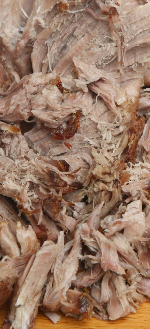 Instant pot pulled pork shoulder recipe. Very easy and delicious recipe. Pork shoulder with cabbage and spices cooked in a pressure cooker. #instantpot #pressurecooker #dinner #pork #pulled