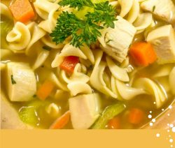 Slow cooker chicken-vegetable noodle soup recipe. This rich in protein, chicken broth-based soup cooked in 6-quart (6 L) slow cooker. #slowcooker #crockpot #dinner #chicken