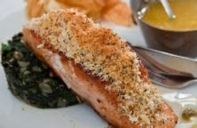 baked garlic parmesan salmon fillet recipe