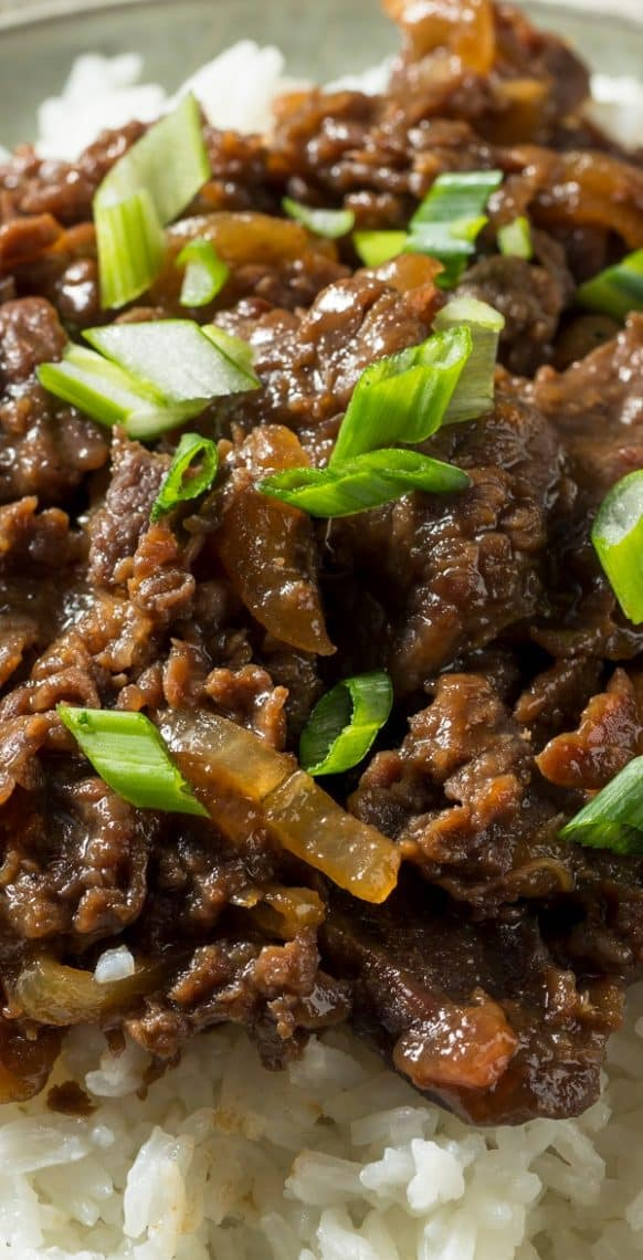Pressure cooker Korean beef recipe. Beef chuck roast with spices cooked in an electric pressure cooker. Serve it over cooked rice. #pressurecooker #instantpot #korean #beef #dinner #homemade