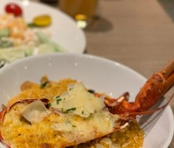 Oven grilled lobster with Parmesan sauce. Lobsters with Parmesan, dry white wine, and bread crumbs grilled in an oven. Very delicious!!! #grill #recipes #seafood #lobsters #dinner #magicskilletrecipes