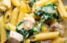 instant pot spinach artichoke pasta recipe