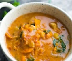 slow cooker vegan peanut stew recipe