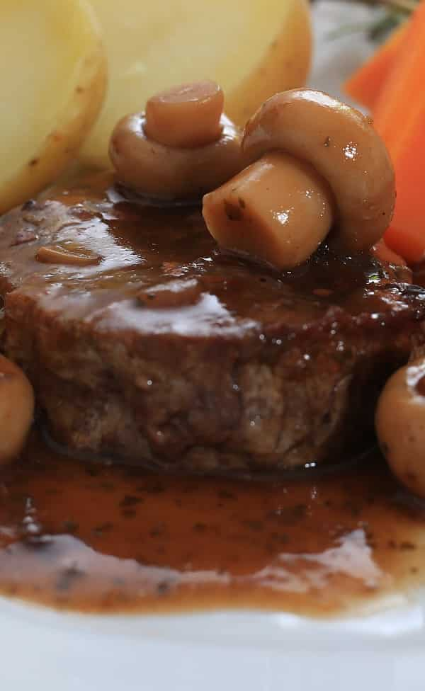 Pressure cooker roast beef with Madeira sauce. Beef pot roast with delicious homemade Madeira sauce cooked in a pressure cooker. Easy and delicious recipe. #pressurecooker #instantpot Beef #dinner #easy #homemade #delicious