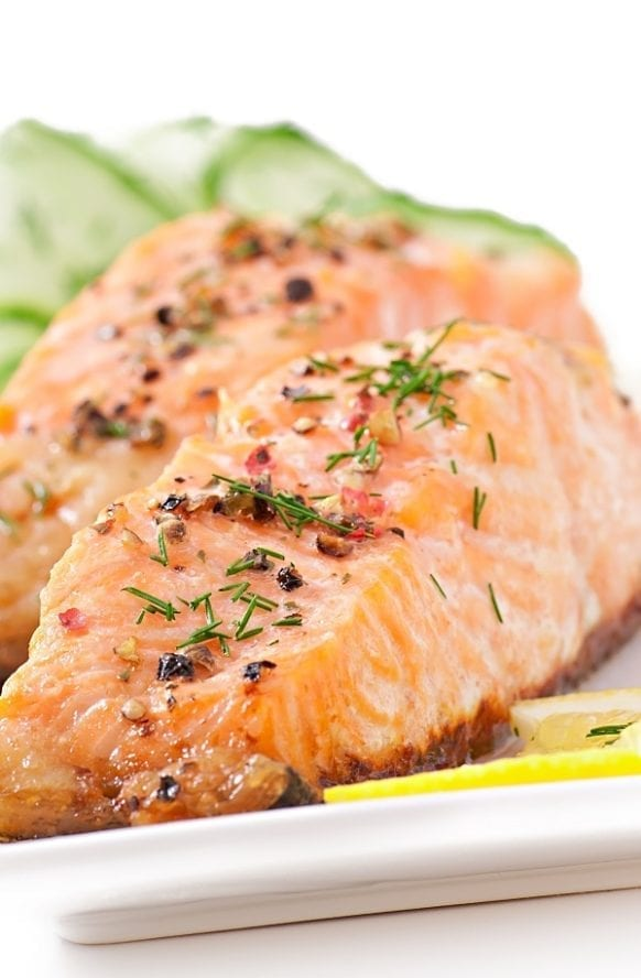 Instant pot baked salmon fillets recipe. Very simple and delicious 1-ingredients seafood recipe. #instantpot #pressurecooker #seafood #dinner #salmon #homemade #healthy