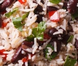 Instant pot red beans and rice casserole recipe. Red kidney beans with herbs and rice coked in an electric instant pot. #instantpot #pressurecooker #dinner #healthy #vegetarian #vegan #homemade