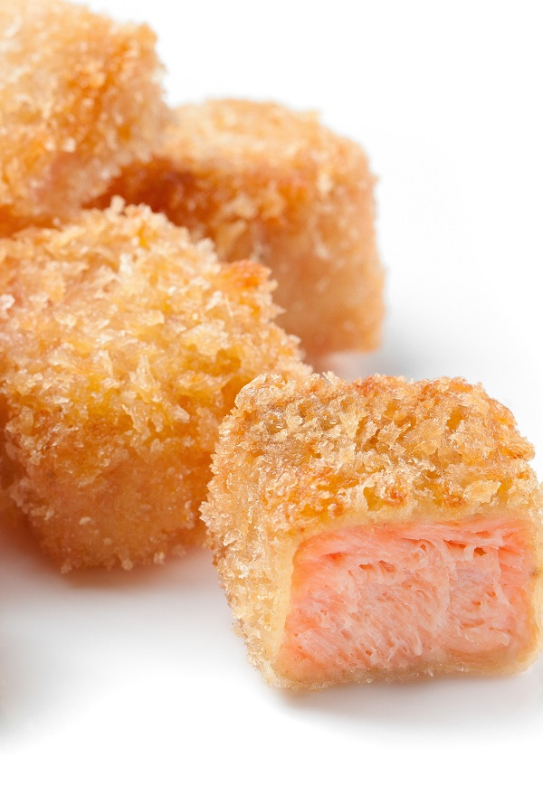 Fried salmon nuggets recipe. Skillet-fried seasoned salmon fillets. Use as an appetizer or main dish. #seafood #dinner #magicskilletrecipes #salmon #nuggets #food #recipes