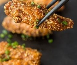 Slow cooker general Tso chicken wings recipe. Chicken wings with spices cooked in a slow cooker. #slowcooker #crockpot #chicken #dinner #yummy #homemade #wings #appetizers #party