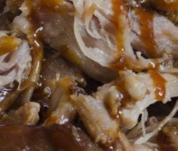 Slow cooker Cuban pork roast recipe. Pork shoulder roast with vegetables and spices cooked in a slow cooker. Serve it over the cooked rice or use it as sandwiches. #slowcooker #crockpot #pork #recipes #dinner