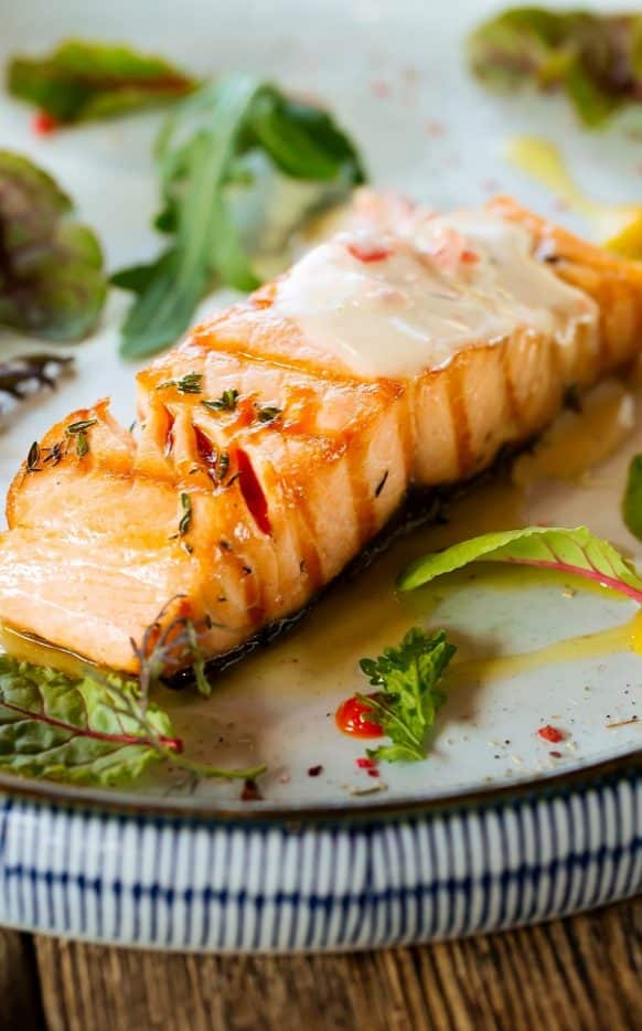 Air fryer salmon fillets recipe. Salmon fillets with spices cooked in an air fryer. Easy and healthy. #airfryer #dinner 3seafood #salmon #easy #healthy