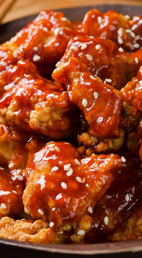 Air fryer sesame chicken recipe. Learn how to cook yummy Asian sesame chicken in an air fryer.#airfryer #dinner #chicken #easy #healthy