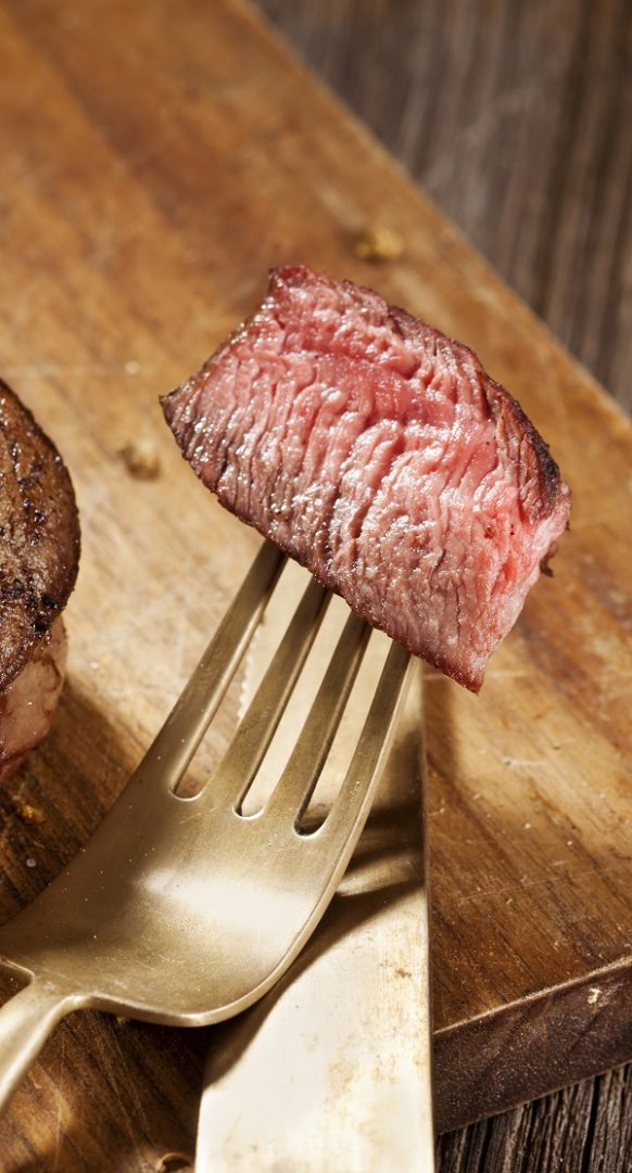 Air fryer beef steak with garlic butter recipe. Learn how to cook perfect beef steak in an air fryer. #airfryer #dinner #beef #steak #recipes #food