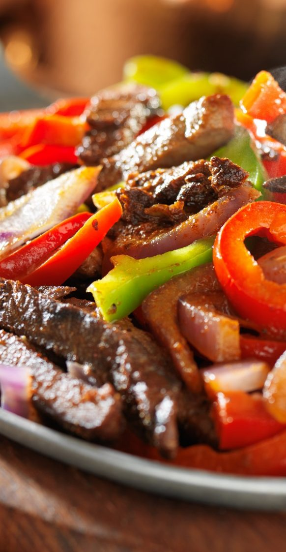 Air fryer beef fajitas recipe. Learn how to cook delicious Mexican beef fajitas in an air fryer. #airfryer #dinner #mexican #beef #magicskilletrecipes