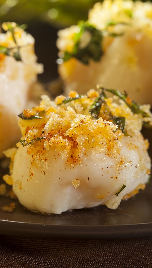 Air fryer breaded scallops recipe. Learn how to cook yummy scallops in an air fryer. #airfryer #dinner #seafood #healthy #scallops #seafood
