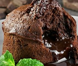 Air fryer lava cake recipe. Learn how to cook yummy dessert in an air fryer. Quick and easy. #airfryer #desserts #cakes #breakfast #easy #lavacakes
