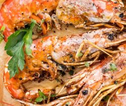 Air fryer spicy tiger shrimp recipe. Learn how to cook delicious Thai shrimp in an air fryer. #airfryer #dinner #shrimp #seaffod #magicskilletrecipes