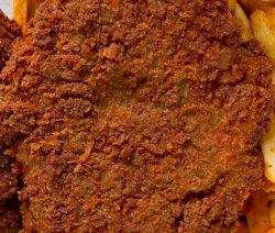 Air fryer breaded beef schnitzel recipe. Learn how to fry yummy and crispy beef schnitzel in an air fryer. #airfryer #schnitzel #beef #dinner #homemade #magicskilletrecipes