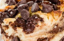 Air fryer chocolate chip bread pudding. Learn how to cook easy and delicious bread pudding in an air fryer. #airfryer #desserts #breakfast #chocolate #pudding