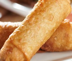 Air fryer egg rolls recipe. Very easy and delicious appetizer cooked in an air fryer. #airfryer #appetizers #snacks #dinner #eggrolls