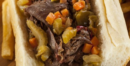 Instant pot Italian beef sandwiches recipe. Beef chick roast with spices cooked in an instant pot and served with crusty hoagie or sandwich rolls. #pressurecooker #instantpot #dinner #sandwiches #beef #italian #hearty
