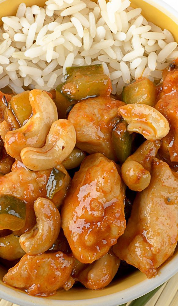 Air fryer Kung Pao chicken recipe. Learn how to cook yummy Chinese chicken in an air fryer. #airfryer #chicken #chicnes #dinner #yummy #easy